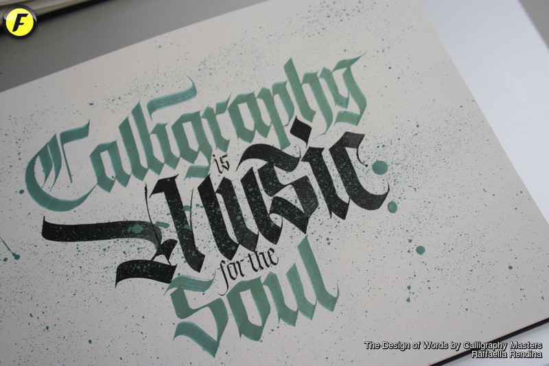 The design of words by calligraphy masters fuorisalone
